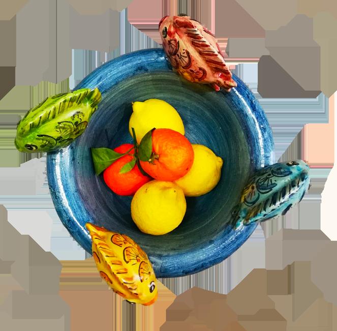 piatto ceramica pesci scarlatella